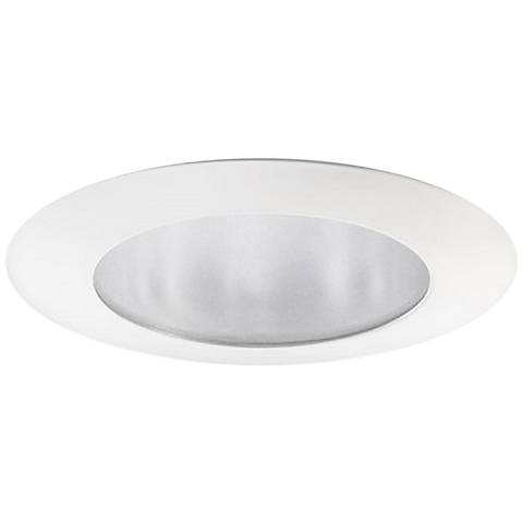 "Juno Davis 5"" White Flat Glass Lensed Shower Recessed Trim"