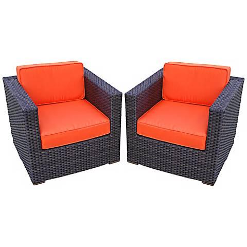 Genoa 2-Piece Orange Outdoor Armchair