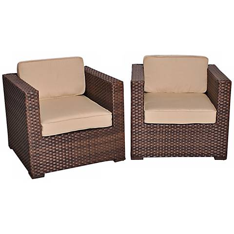 Genoa 2-Piece Antique Beige Outdoor Armchair