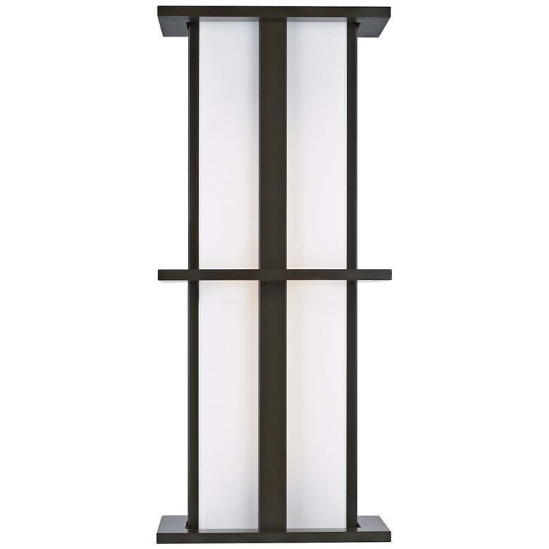 "LBL Modular Tubular Medium 28"" Bronze Outdoor Wall Light"