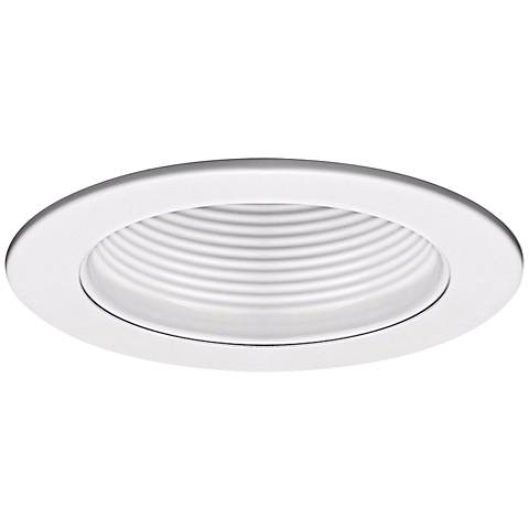 "WAC 4"" Step Baffle Recessed Downlight White Trim"
