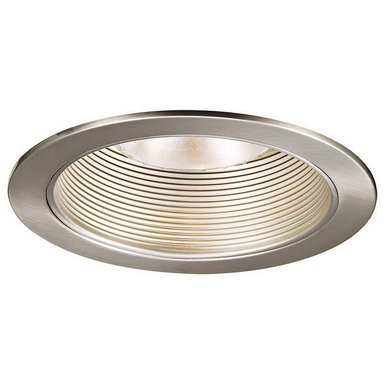 "WAC 6"" Brushed Nickel Baffle Recessed Light Trim"