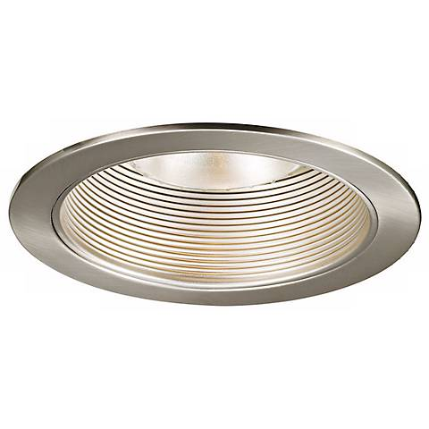 "WAC 6"" Brushed Nickel Baffle Recessed Light Trim"