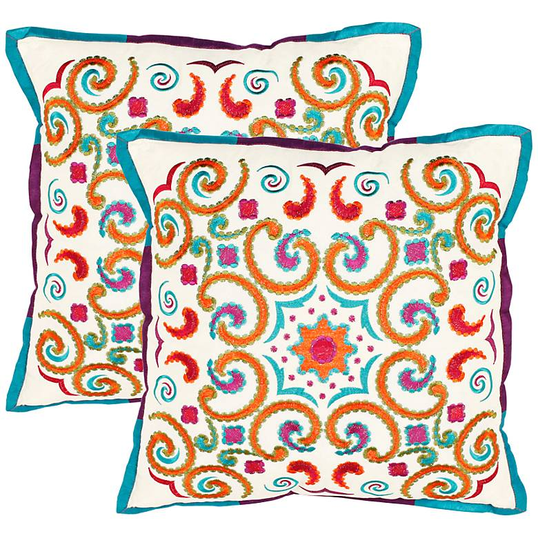Set of 2 Safavieh Calycopis Moroccan Accent Pillows