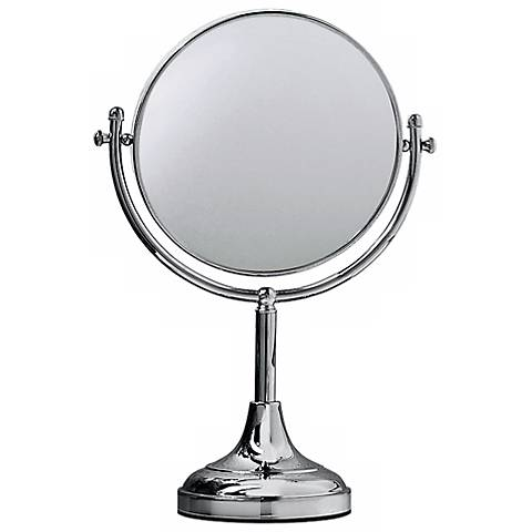 """Gatco 15"""" High Chrome Table Mirror"""