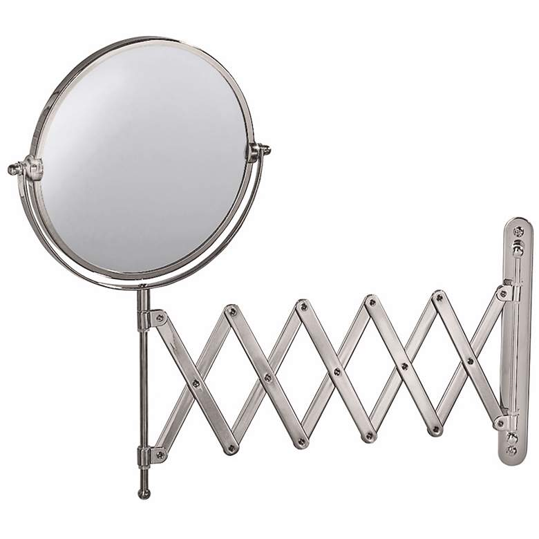 "Gatco Satin Nickel 26 1/2"" x 15 1/2"" Accordion Wall Mirror"