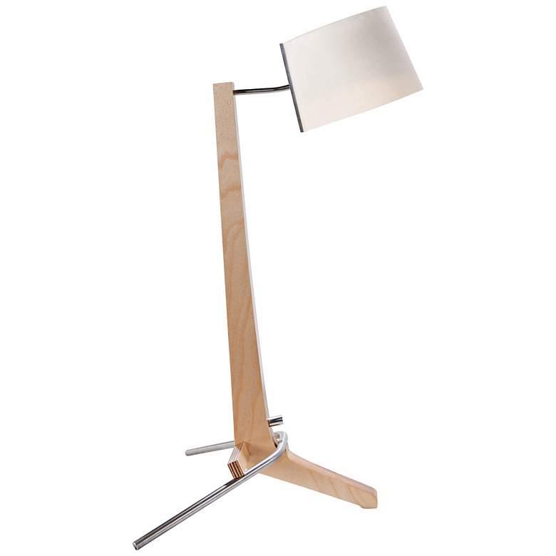 Cerno Silva Baltic Birch and White Linen Desk Lamp