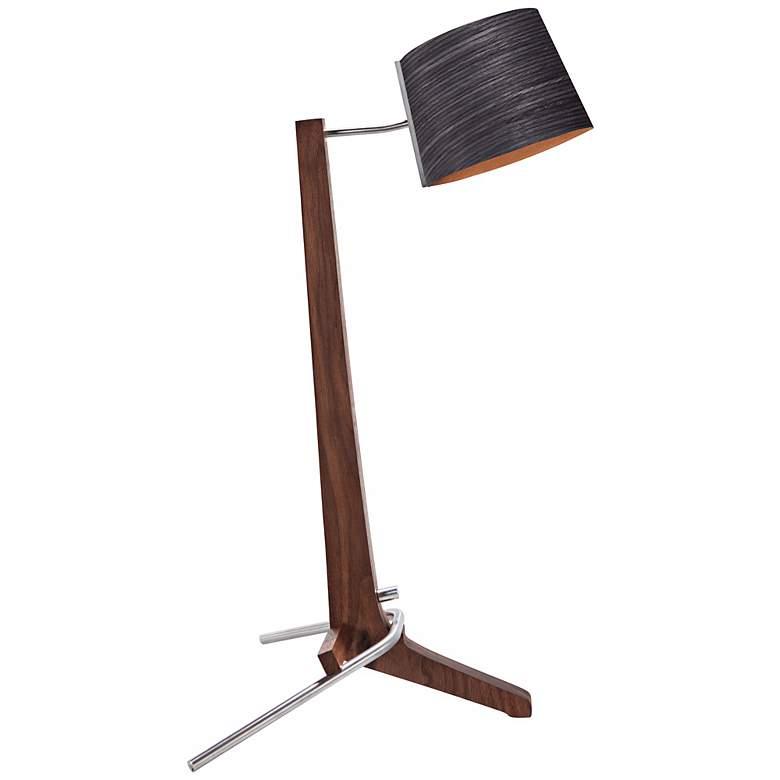 Cerno Silva Oiled Walnut and Ebony LED Table