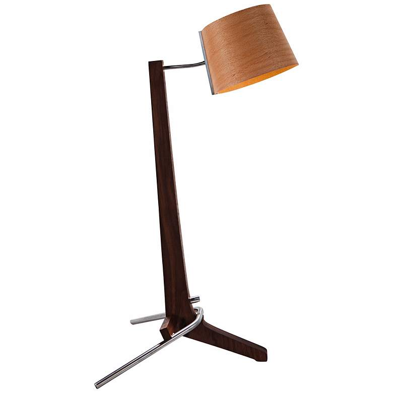 Cerno Silva Black Walnut and Beech LED Table