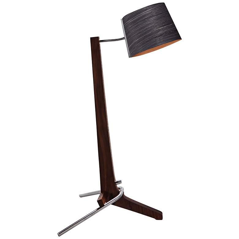 Cerno Silva Black Walnut and Ebony LED Table