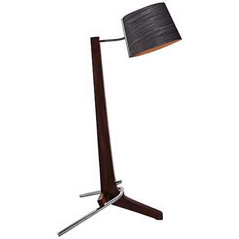 Cerno Silva Black Walnut and Ebony LED Table Lamp