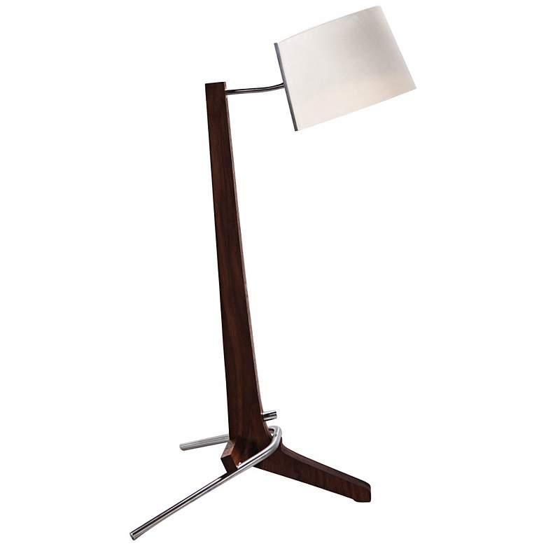 Cerno Silva Black Walnut and White LED Desk