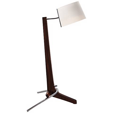 Cerno Silva Black Walnut and White LED Desk Lamp