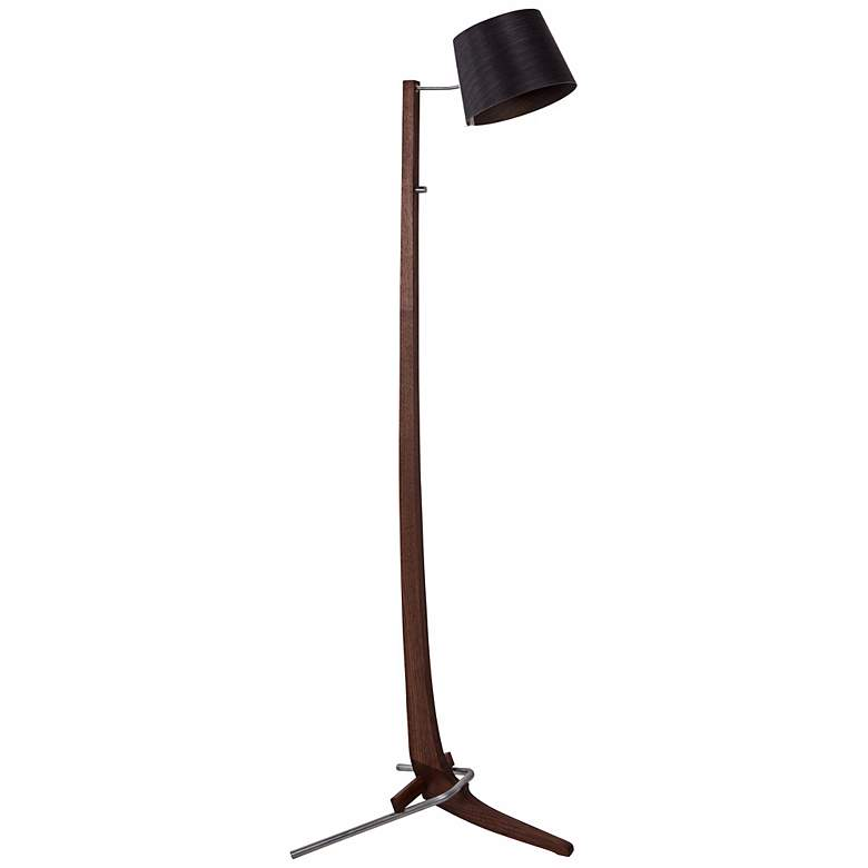 Cerno Silva Oiled Walnut and Ebony LED Floor Lamp