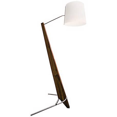 Cerno Giant Silva Oiled Walnut and White LED Floor Lamp