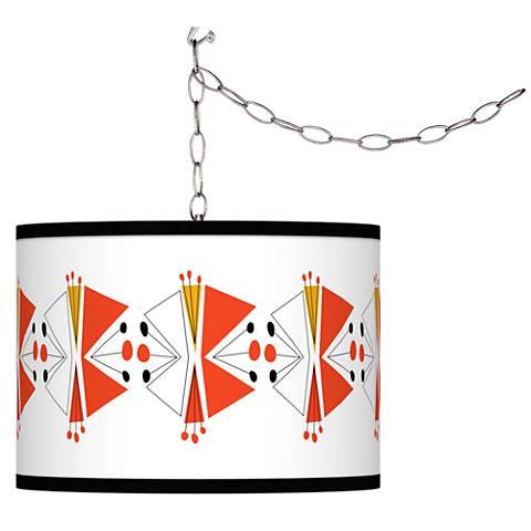 Lexiconic III Giclee Glow Plug-In Swag Pendant