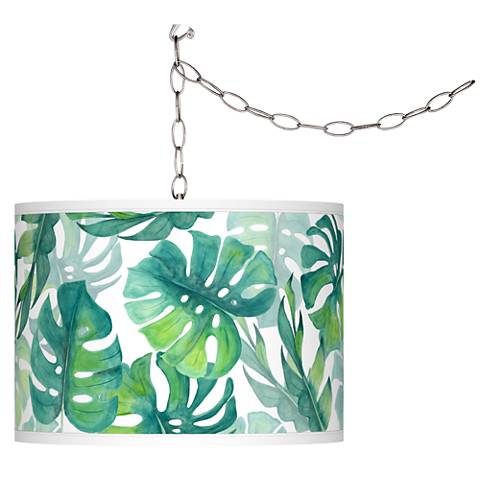 Tropica Giclee Glow Plug-In Swag Pendant