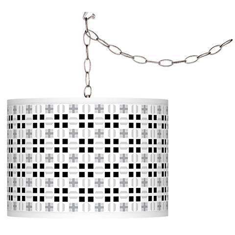Quadrant Giclee Glow Plug-In Swag Pendant