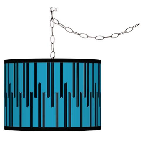 Segments Giclee Glow Plug-In Swag Pendant