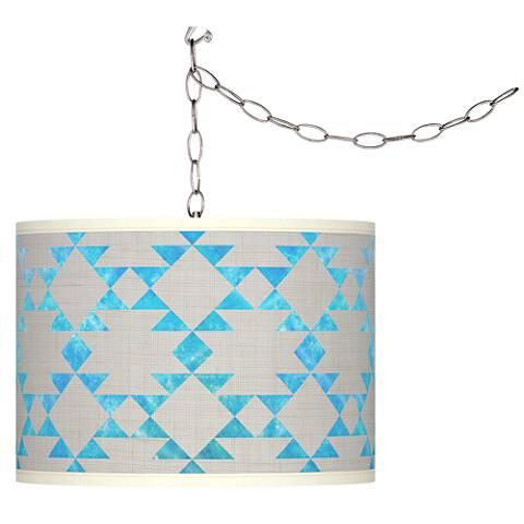 Desert Aquatic Giclee Glow Plug-In Swag Pendant