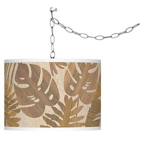 Tropical Woodwork Giclee Glow Plug-In Swag Pendant