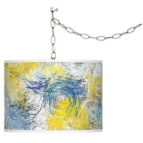 Starry Dawn Giclee Glow Plug-In Swag Pendant