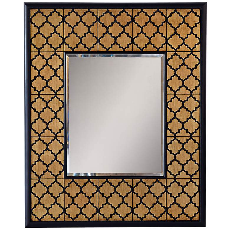 "Port 68 Parker 37"" High Gold Leaf Wall Mirror"