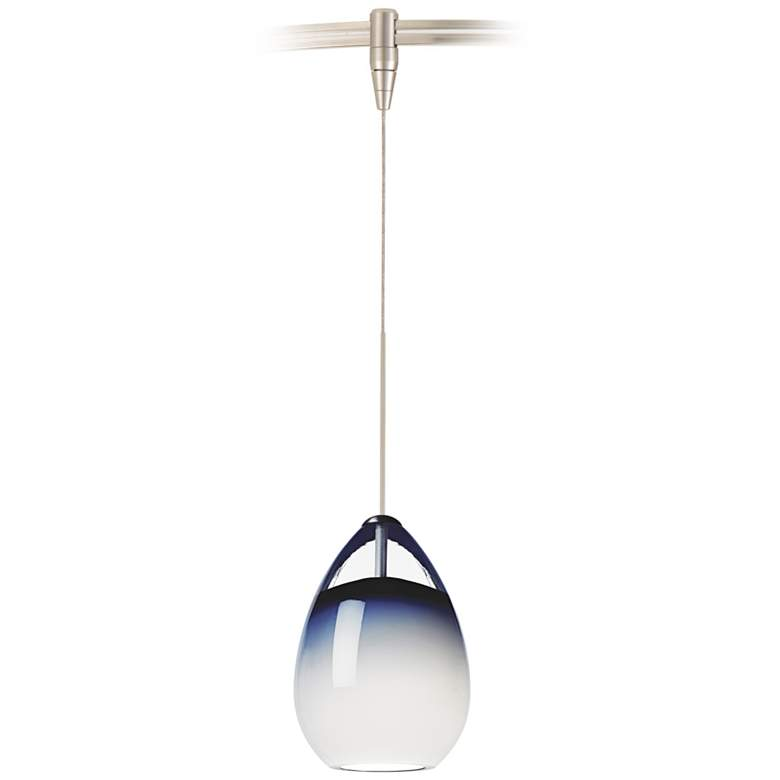 Tech Lighting Alina Steel Blue Glass MonoRail Pendant