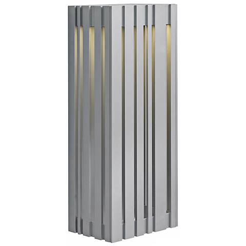 "LBL Uptown 17 3/4"" Silver LED Outdoor Wall Light"