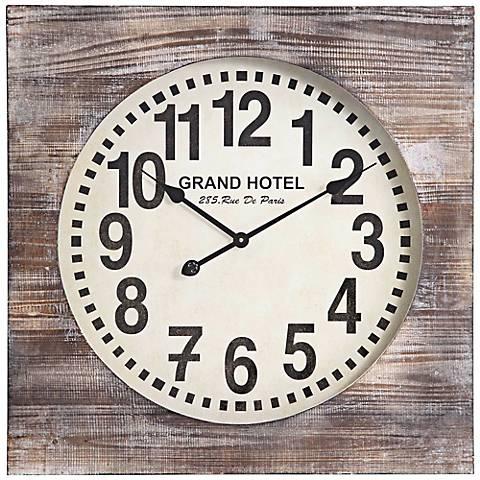 "Cooper Classics Augusta 27"" Wide Wood Wall Clock"