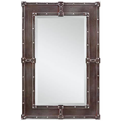 "Cooper Classics Lamare 35 1/2"" High Rectangular Wall Mirror"