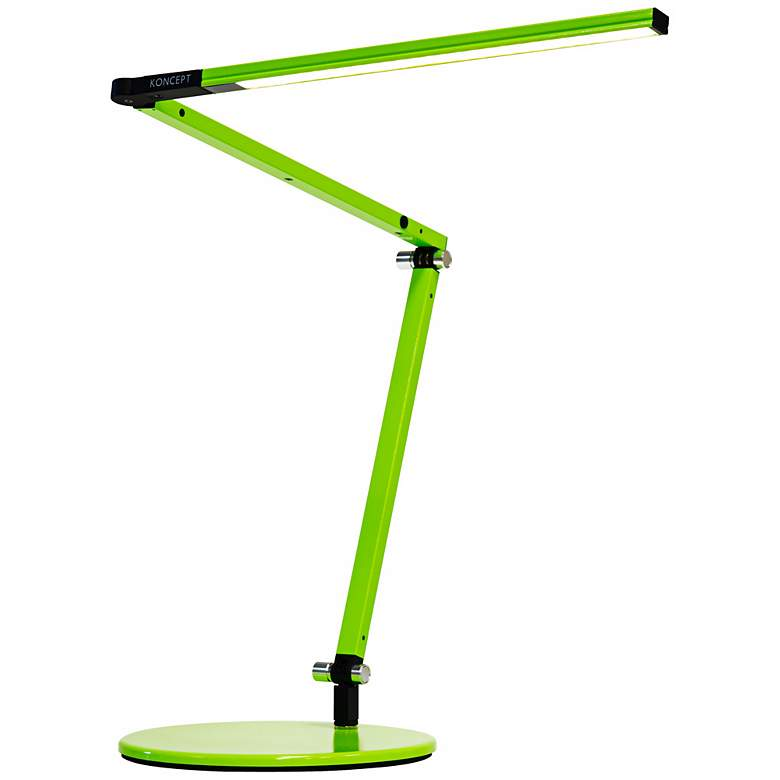 Gen 3 Z-Bar Mini Warm LED Green Desk Lamp with Touch Dimmer