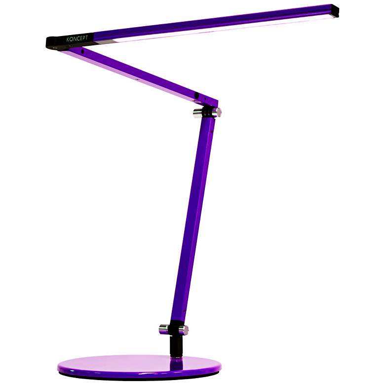 Gen 3 Z-Bar Mini Warm LED Purple Desk Lamp with Touch Dimmer