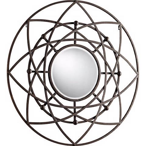 "Robles 39"" Round Decorative Iron Wall Mirror"