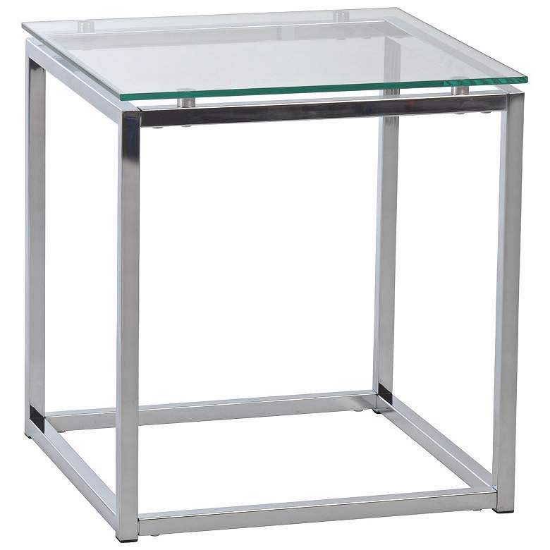 Brilliant Sandor 18 Wide Clear Glass Modern Side Table Ibusinesslaw Wood Chair Design Ideas Ibusinesslaworg