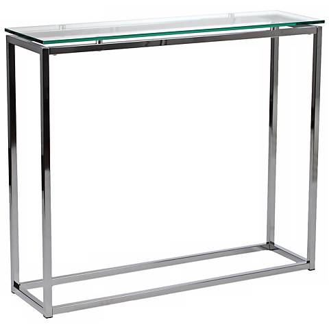 Sandor Clear Glass Console Table