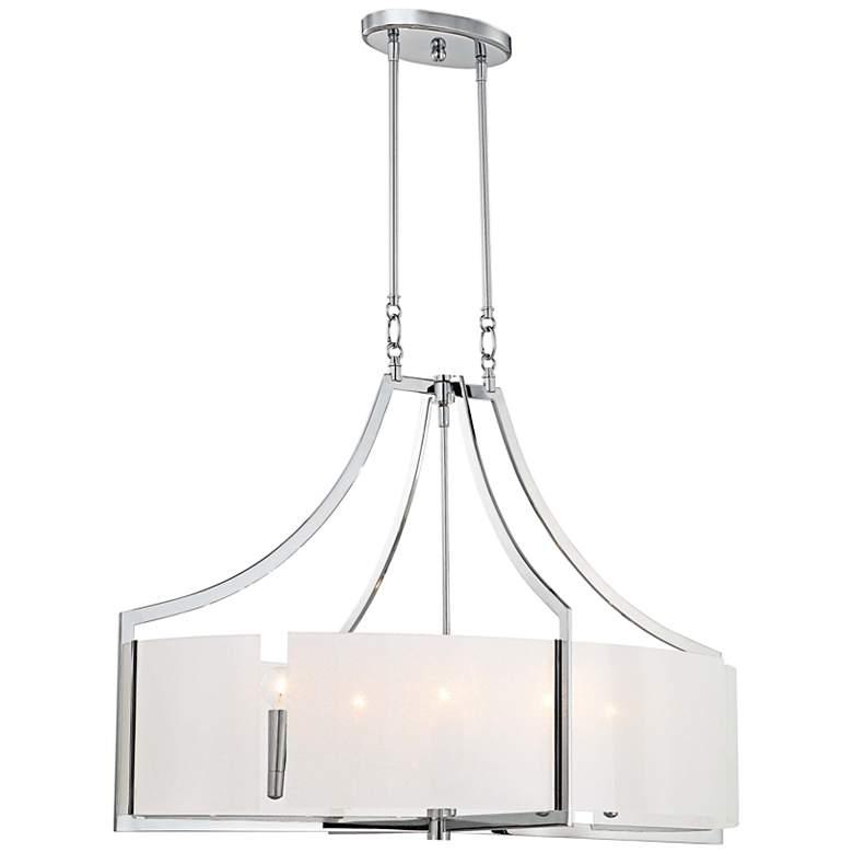 "Clarte 36"" Wide Iris Glass Chandelier"