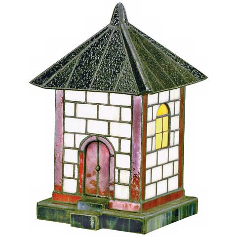 Pagoda Collection White Tile Tiffany Style Accent Light
