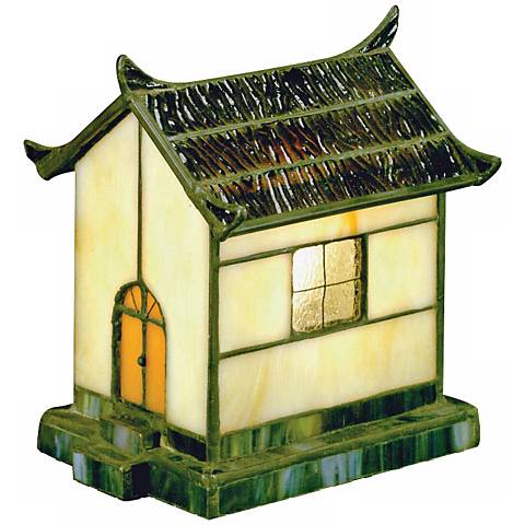 Pagoda Collection Yellow Tiffany Style Accent Light