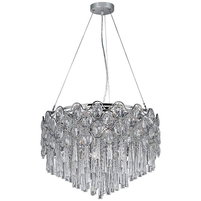 "Maxim Jewel 20-Light 22""W Crystal Pendant Light"