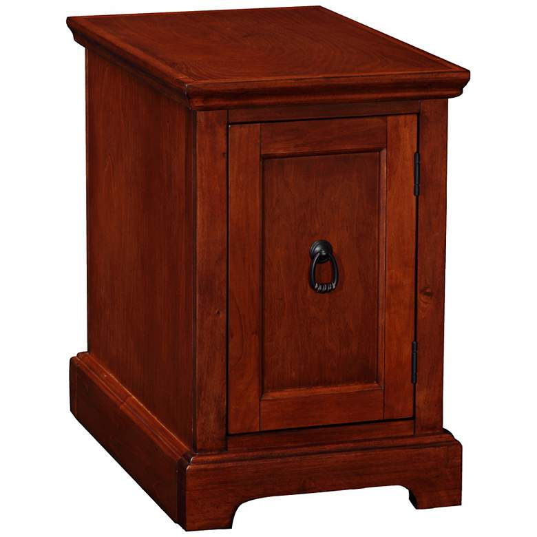 "Leick 23"" High Cherry Wood End Table Printer"