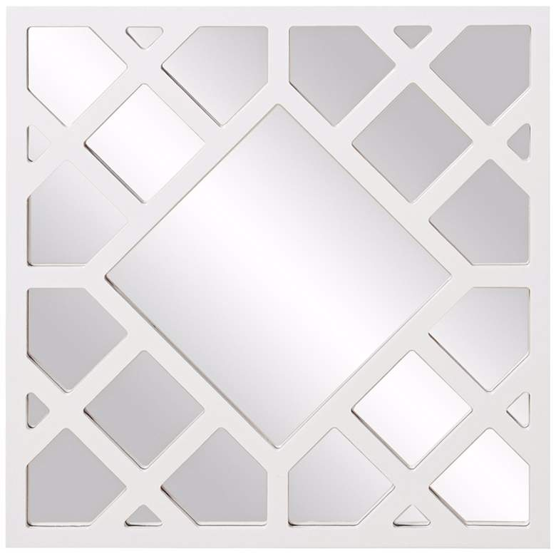 "Howard Elliott Anakin White 24"" Square Lattice Wall"