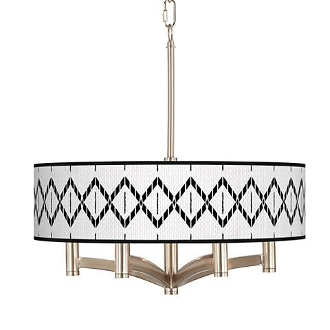 Paved Desert Ava 6-Light Nickel Pendant Chandelier