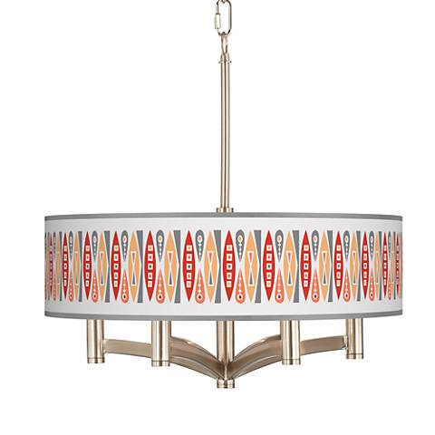 Vernaculis VI Ava 6-Light Nickel Pendant Chandelier