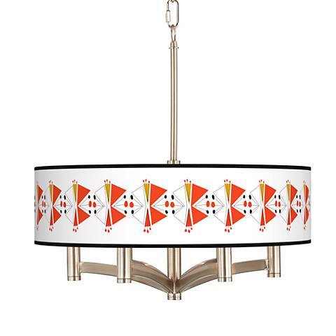 Lexiconic III Ava 6-Light Nickel Pendant Chandelier