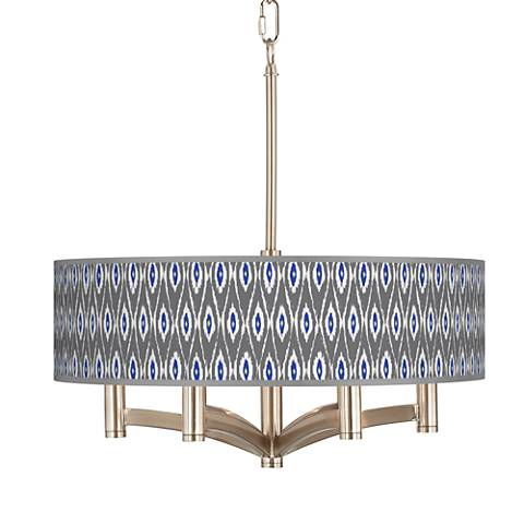 American Ikat Ava 6-Light Nickel Pendant Chandelier