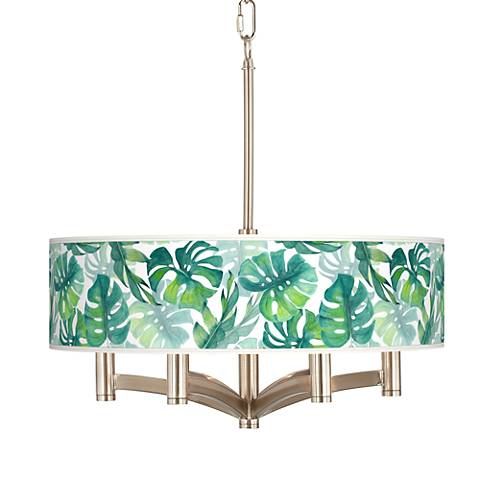 Tropica Ava 6-Light Nickel Pendant Chandelier