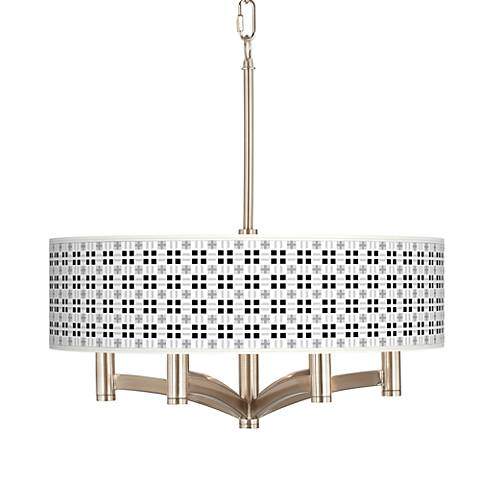 Quadrant Ava 6-Light Nickel Pendant Chandelier