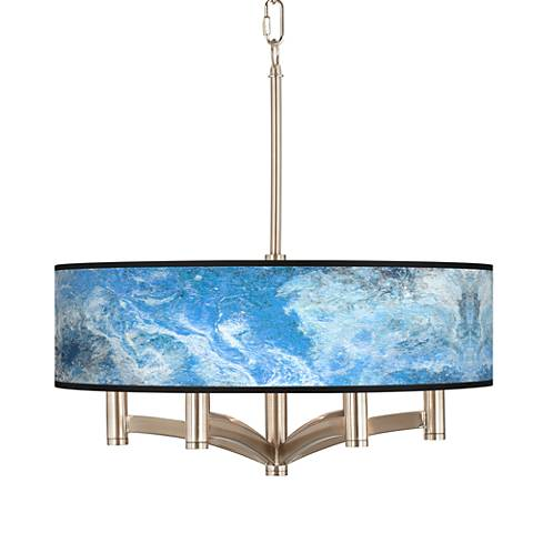 Ultrablue Ava 6-Light Nickel Pendant Chandelier