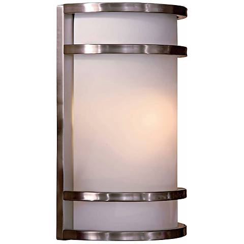 "Bay View Stainless 12"" High Outdoor Wall Light"